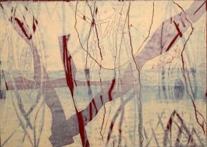 Öl auf Büttenpapier, 35x50 cm